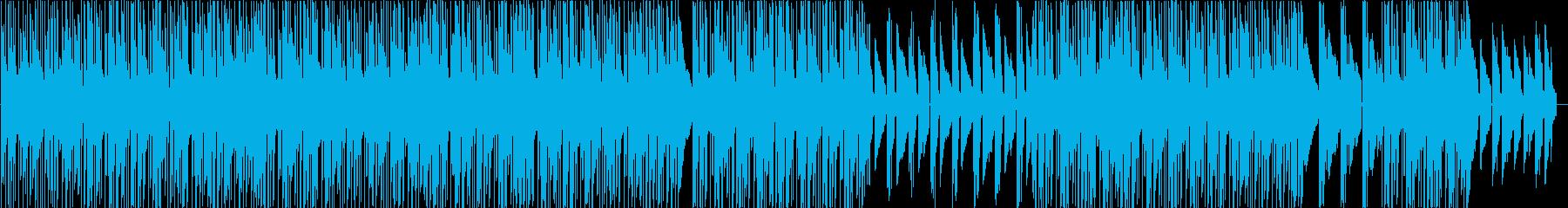 ポップなエレピ主体チュートリアル用BGMの再生済みの波形