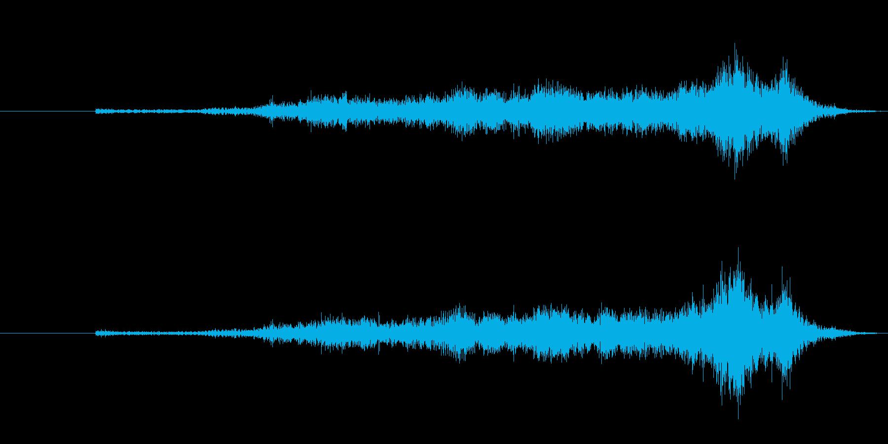 生音 三味線 コスリ アップの再生済みの波形