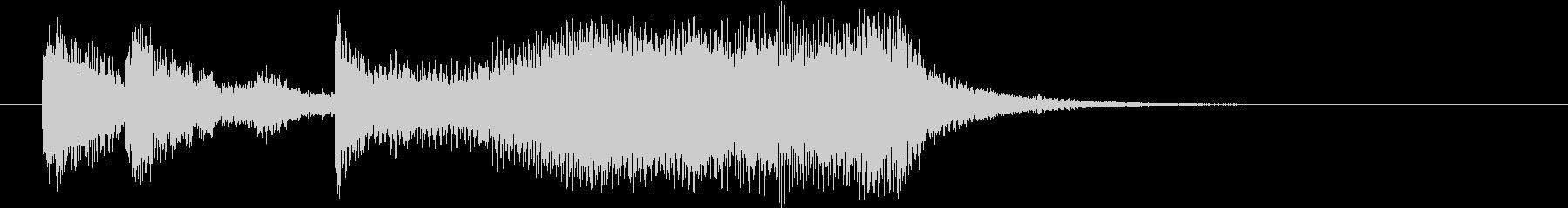 起動音 シンセサイザー&ストリングスの未再生の波形