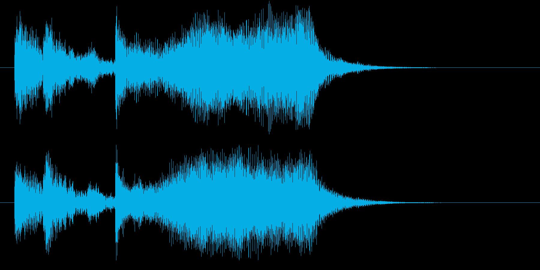 起動音 シンセサイザー&ストリングスの再生済みの波形