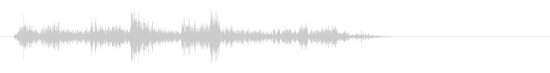 グワワッ(コミカル)の未再生の波形