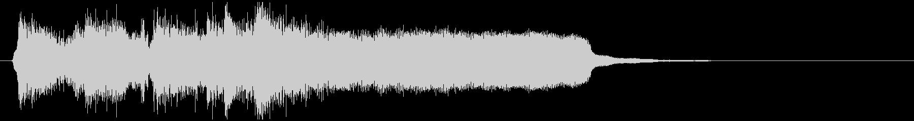 滑らかスタイリッシュなジャズサウンドロゴの未再生の波形