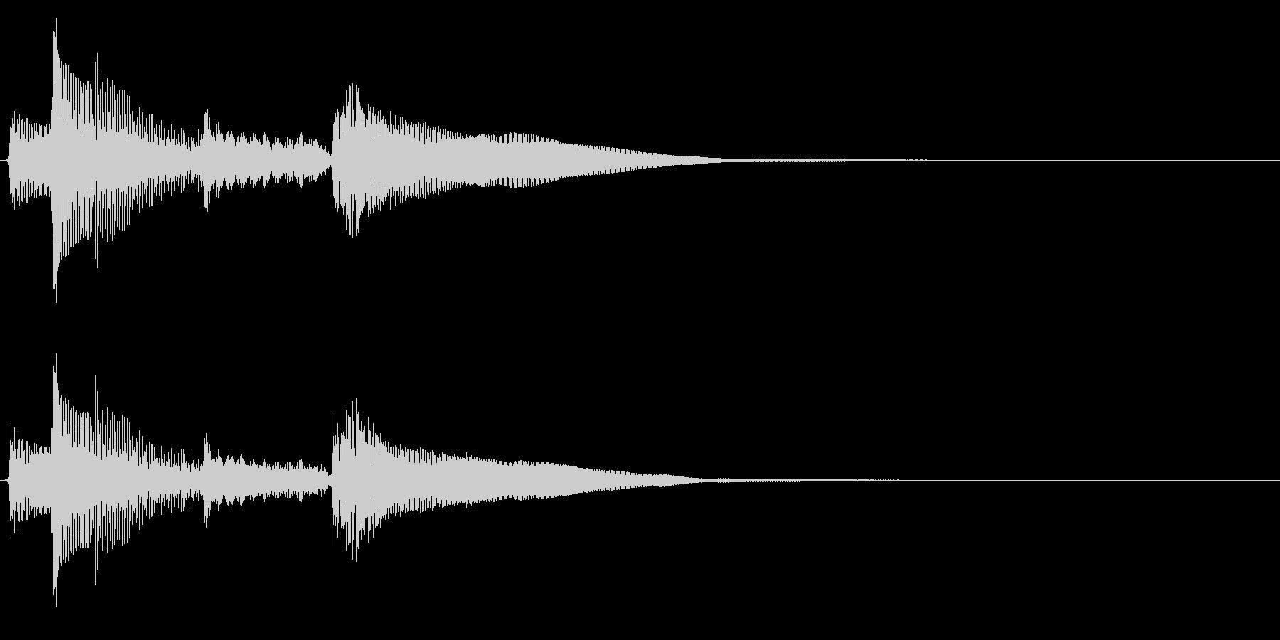 ★アコギ生音のジングル/オシャレ2の未再生の波形
