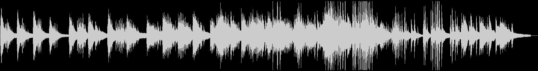 ピアノソロによる赤とんぼの未再生の波形