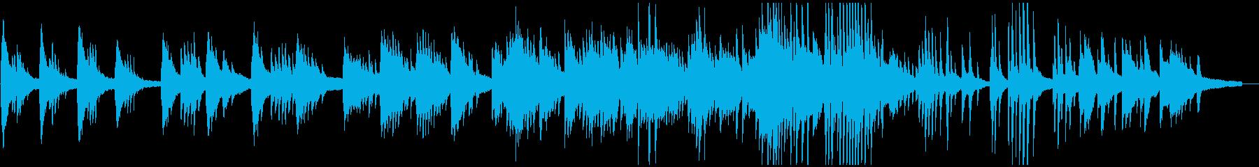 ピアノソロによる赤とんぼの再生済みの波形