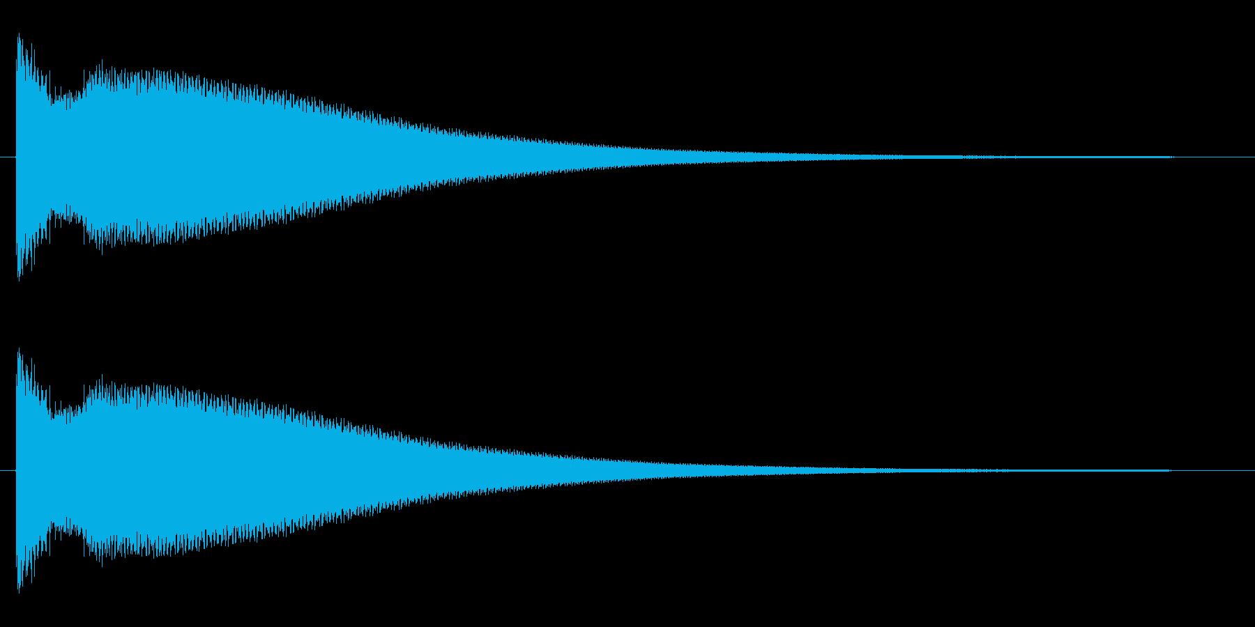 チーン(お葬式の鈴、呼び鈴の効果音)の再生済みの波形