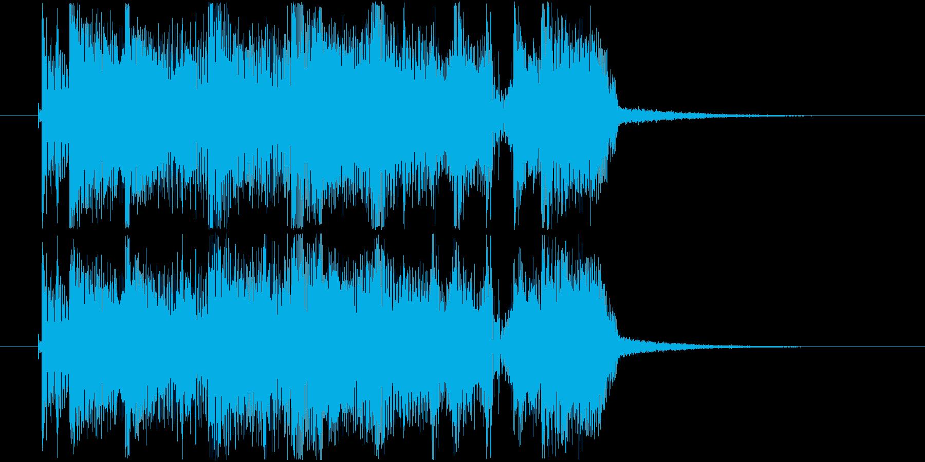ゲームオーバーで使えるジングルの再生済みの波形