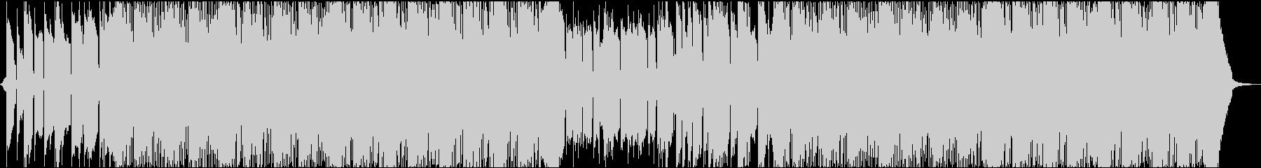 映像に合う無機質クールなBGMの未再生の波形