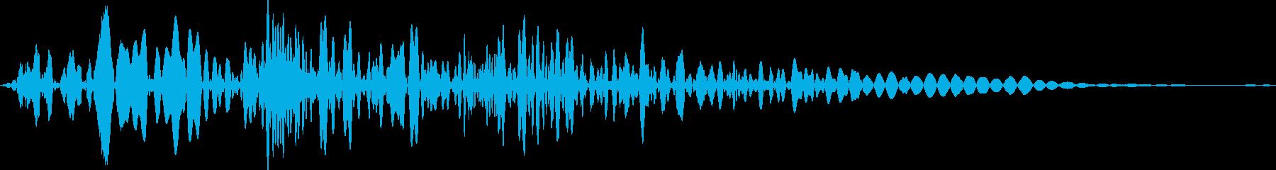 ボタン押下や決定音_ジュオンッ!の再生済みの波形