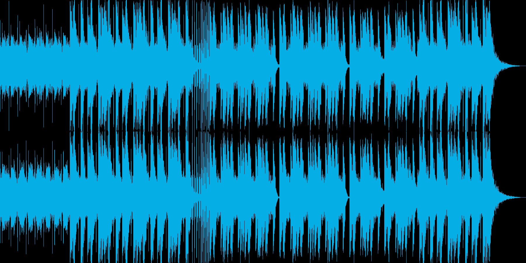 暗くて悪い雰囲気のBGMの再生済みの波形