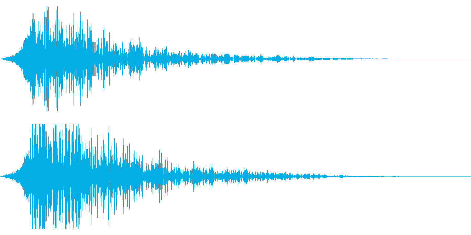 シュードーン-18-3(インパクト音)の再生済みの波形