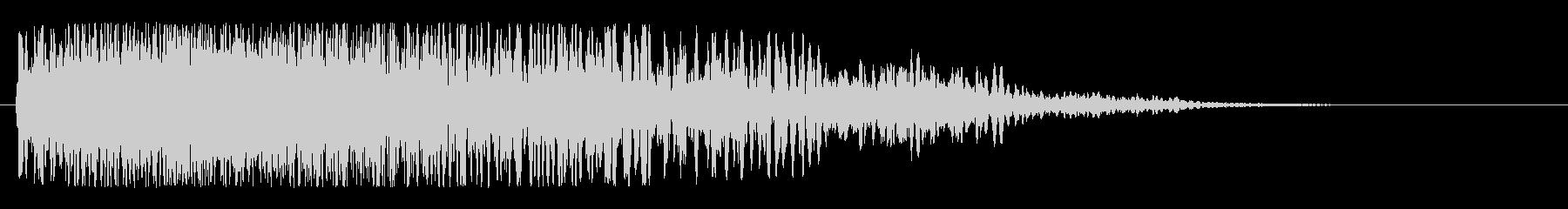 ワープ突入(大きく揺らぐジェット音)の未再生の波形