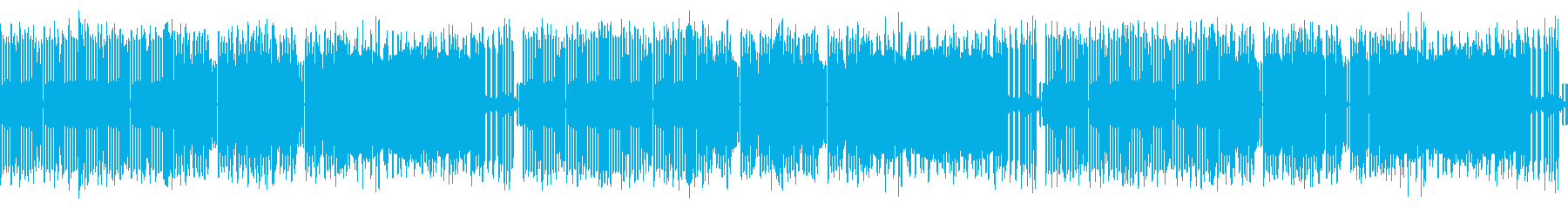 ファミコン風カッコいいBGMの再生済みの波形