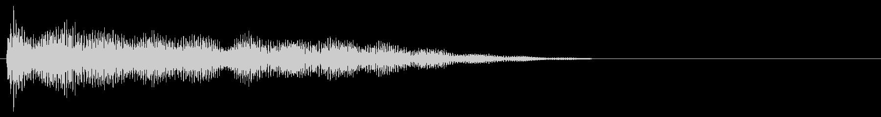 マレット系 タッチ音2(長)の未再生の波形