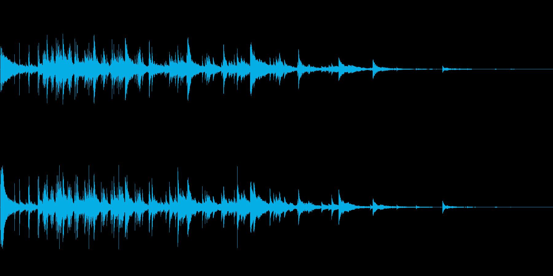 ベルチャイムリング1の再生済みの波形