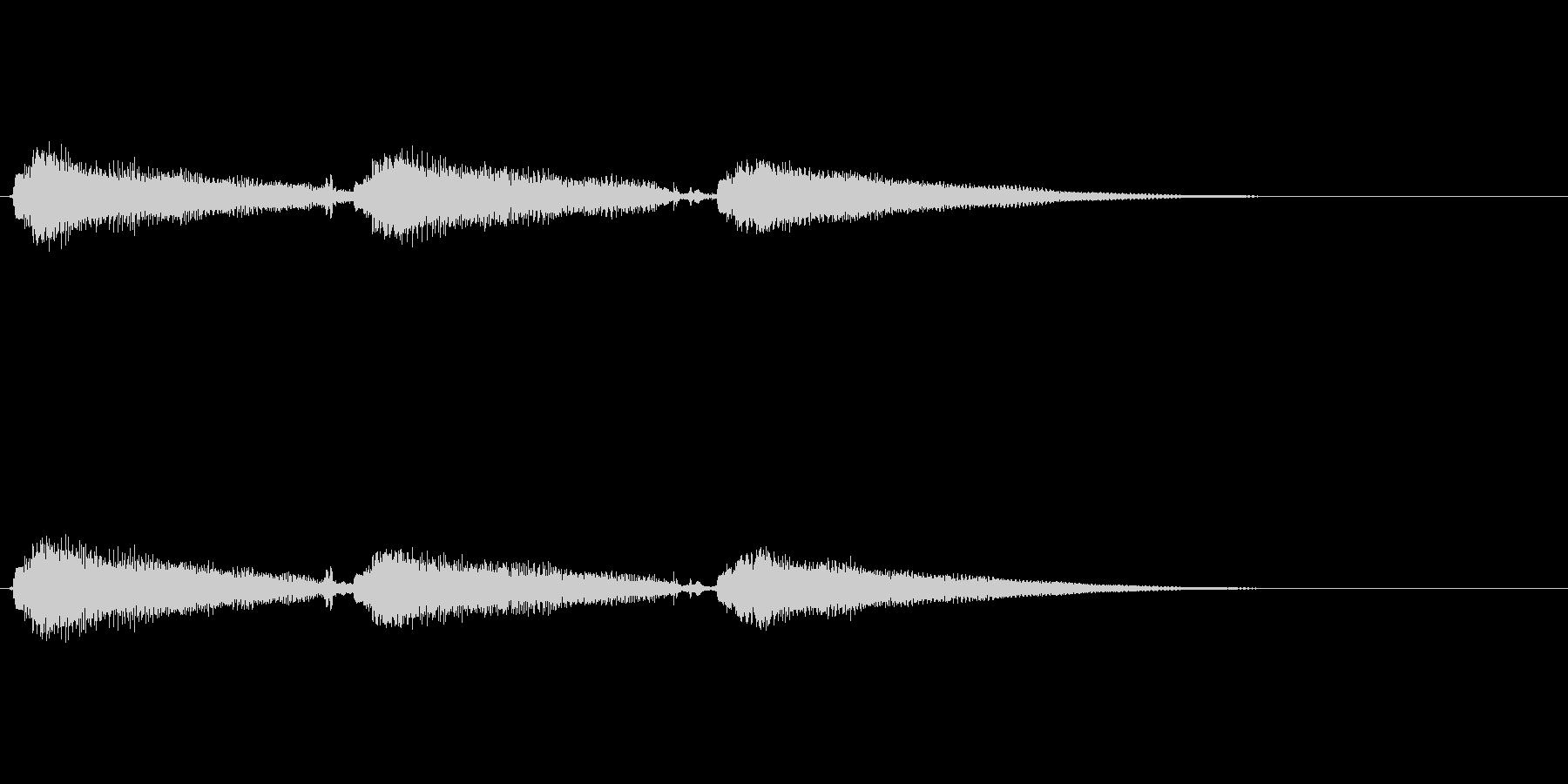 エレキギター pop clean tonの未再生の波形
