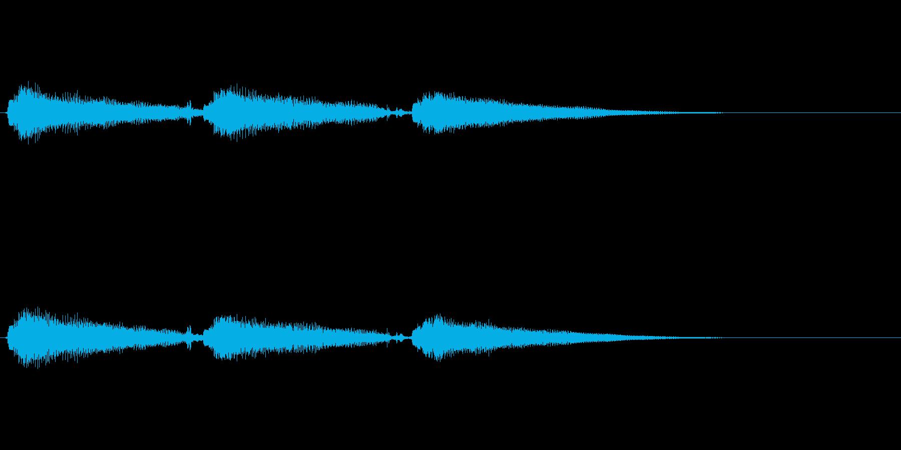 エレキギター pop clean tonの再生済みの波形