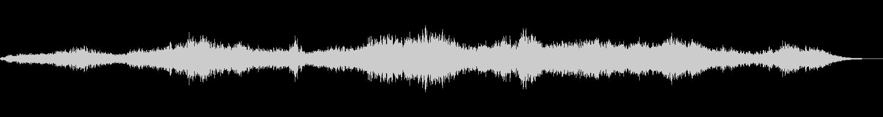 共鳴エイリアン合唱団ドローンリチュアルの未再生の波形