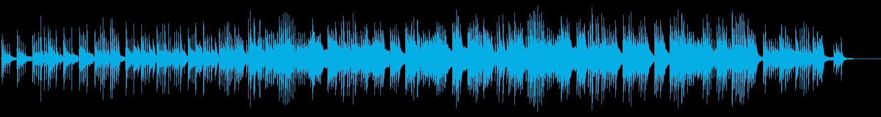 癒し系ピアノバラードの再生済みの波形