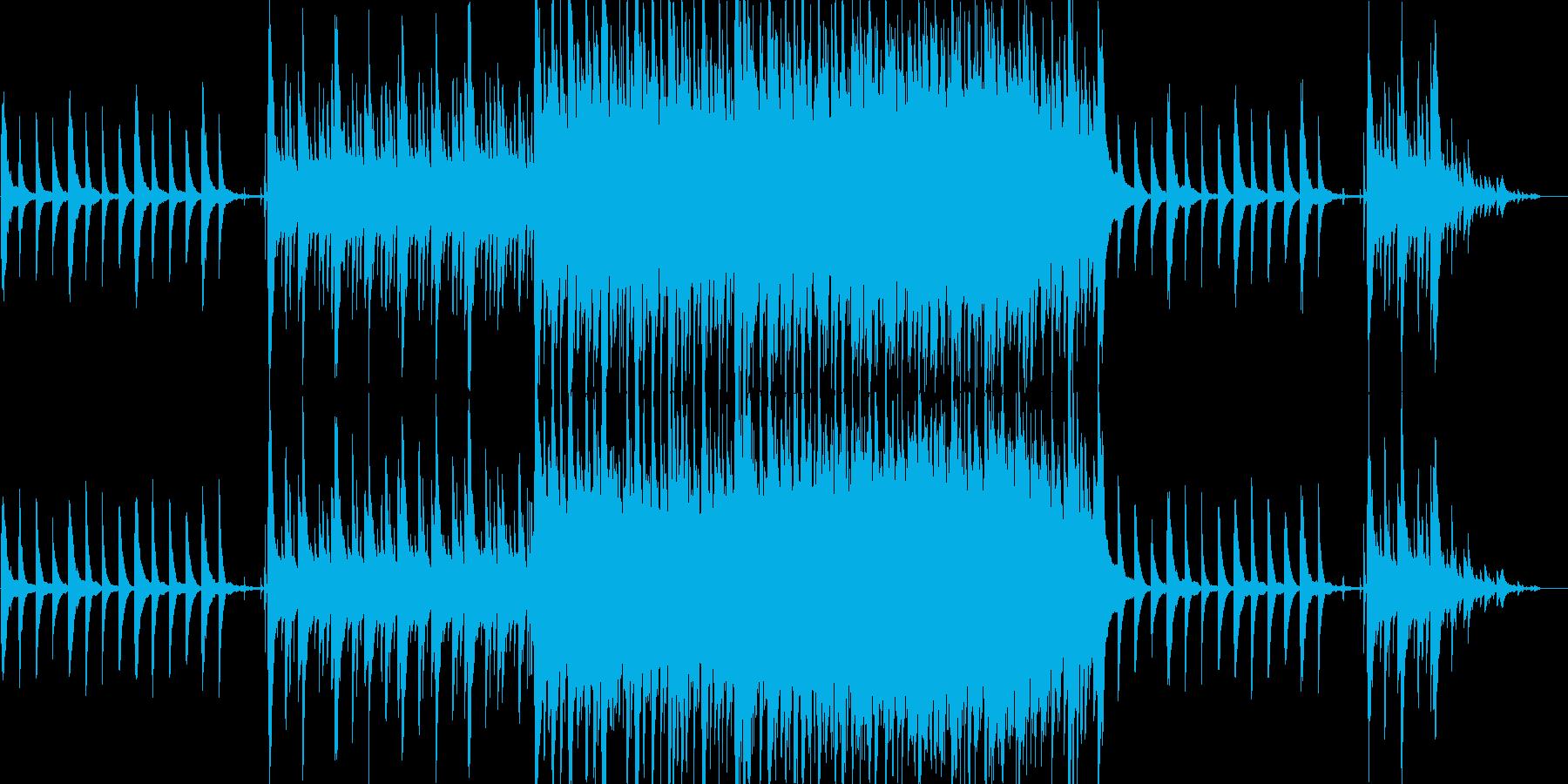 静かで神秘的な灯籠流しの曲。ループ有の再生済みの波形