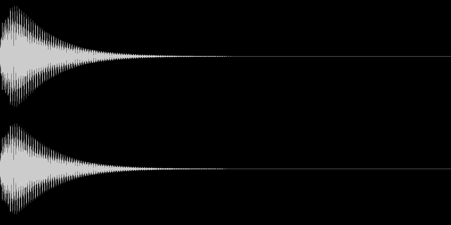 ポーン(ワンポイント_お知らせ_注意)の未再生の波形