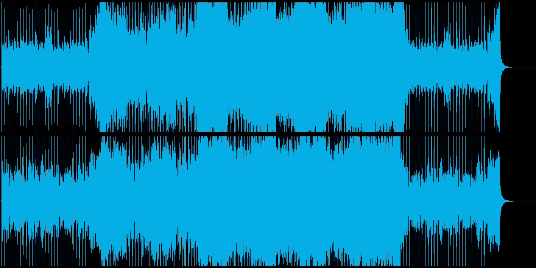 エレビのリフから始まる爽やかなポップスの再生済みの波形