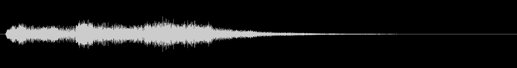 生演奏リコーダーでドレミの音終了音風の未再生の波形