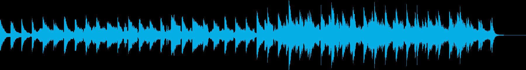 ミステリアスなストリングスBGMの再生済みの波形
