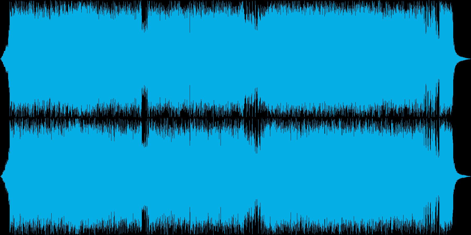 和風で怪しげなハードロックBGMの再生済みの波形