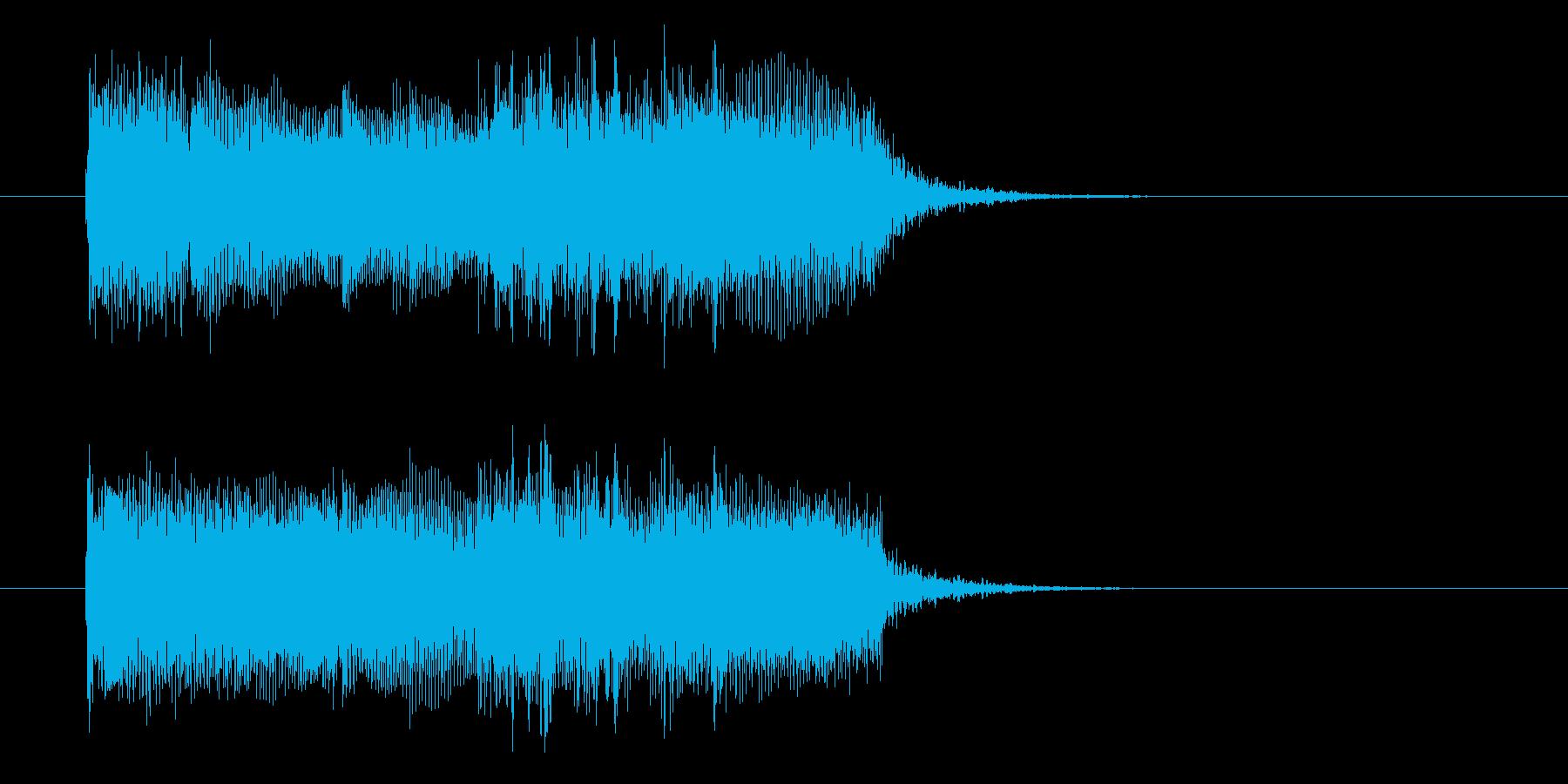 激しさのあるギターの曲の再生済みの波形