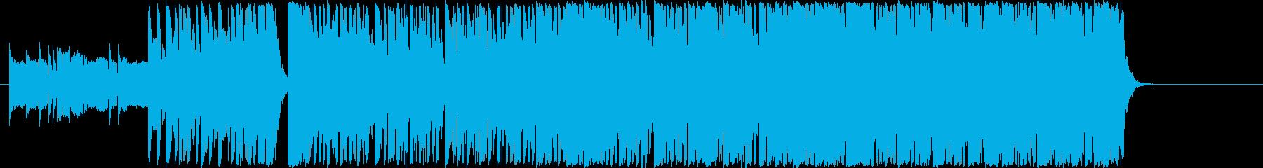 アグレッシブなミッションドラムベースのみの再生済みの波形