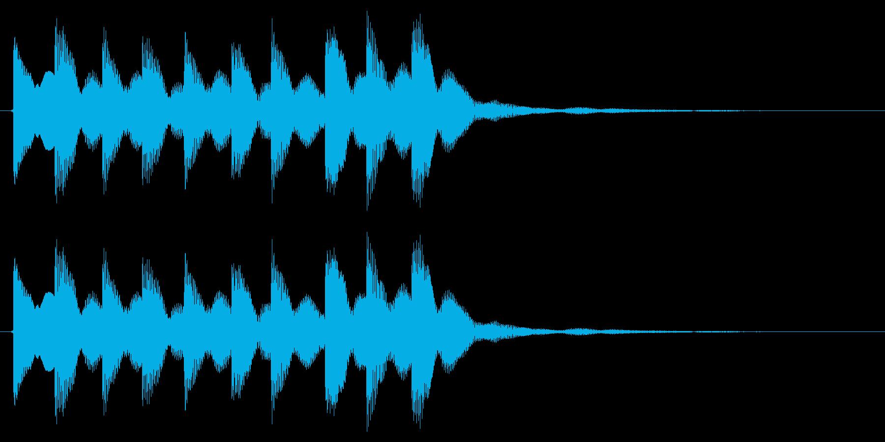 テレテレテレッって感じの正解音です。の再生済みの波形