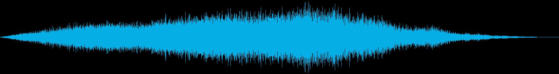 滑走路を通るプロペラ機の再生済みの波形
