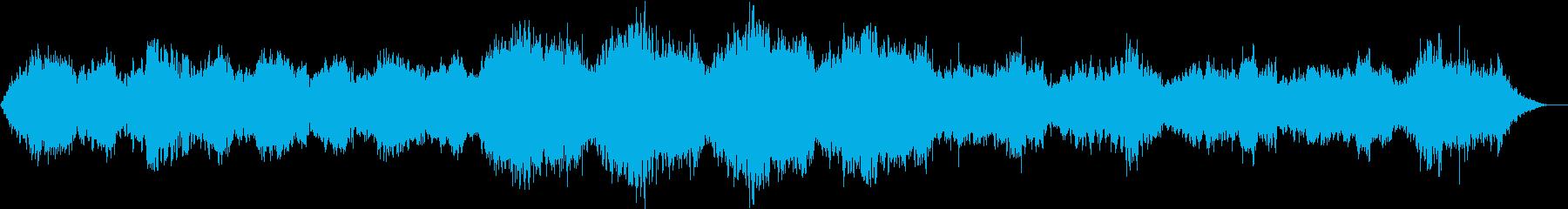 浮遊感のある不思議なホラー曲の再生済みの波形