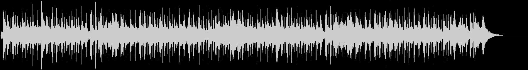 主張の少ないシンプルなブルースの未再生の波形