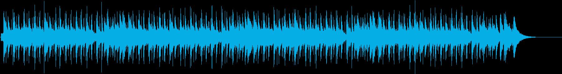 主張の少ないシンプルなブルースの再生済みの波形