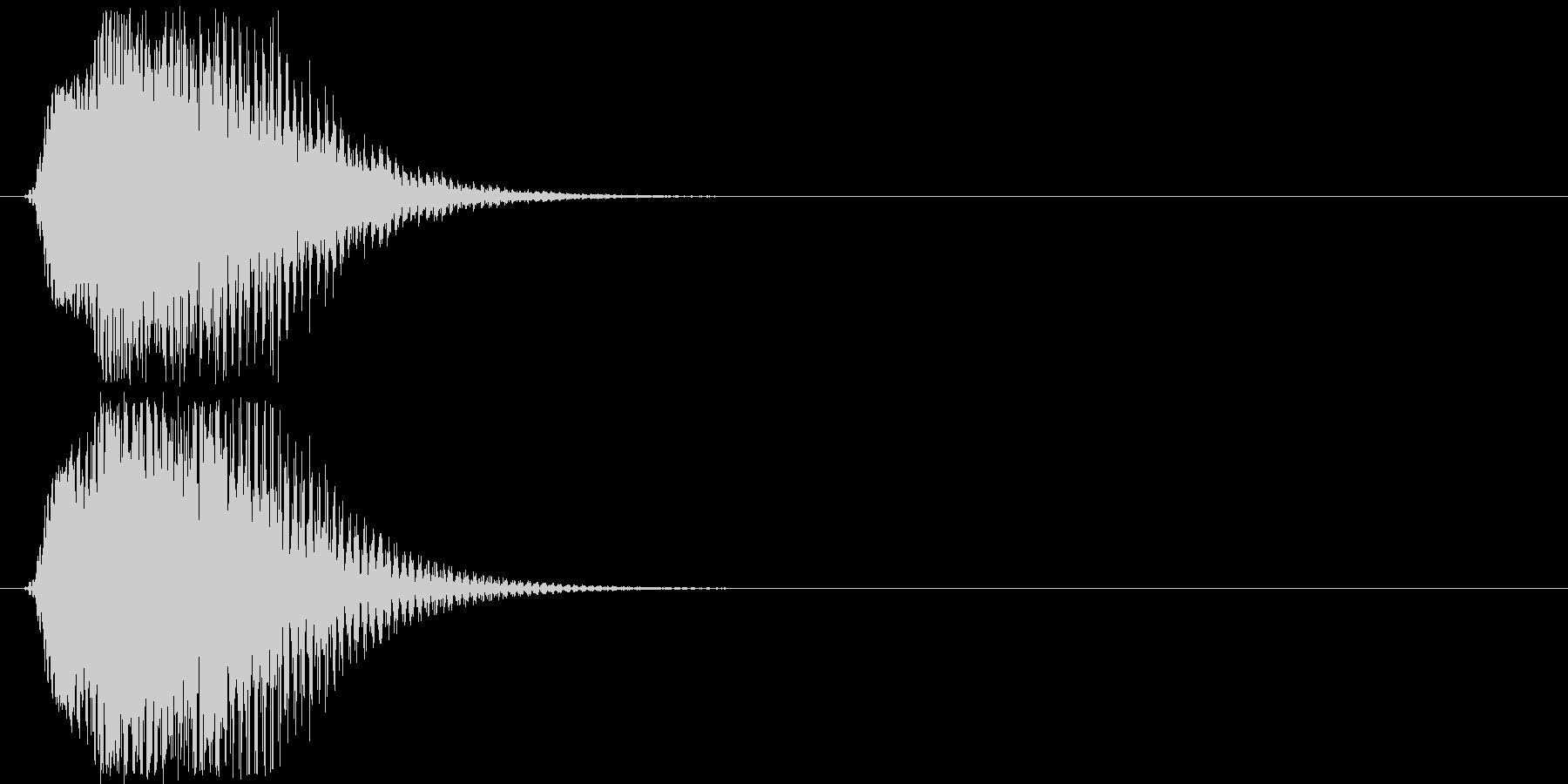 メカやロボの起動音「ブン」4の未再生の波形