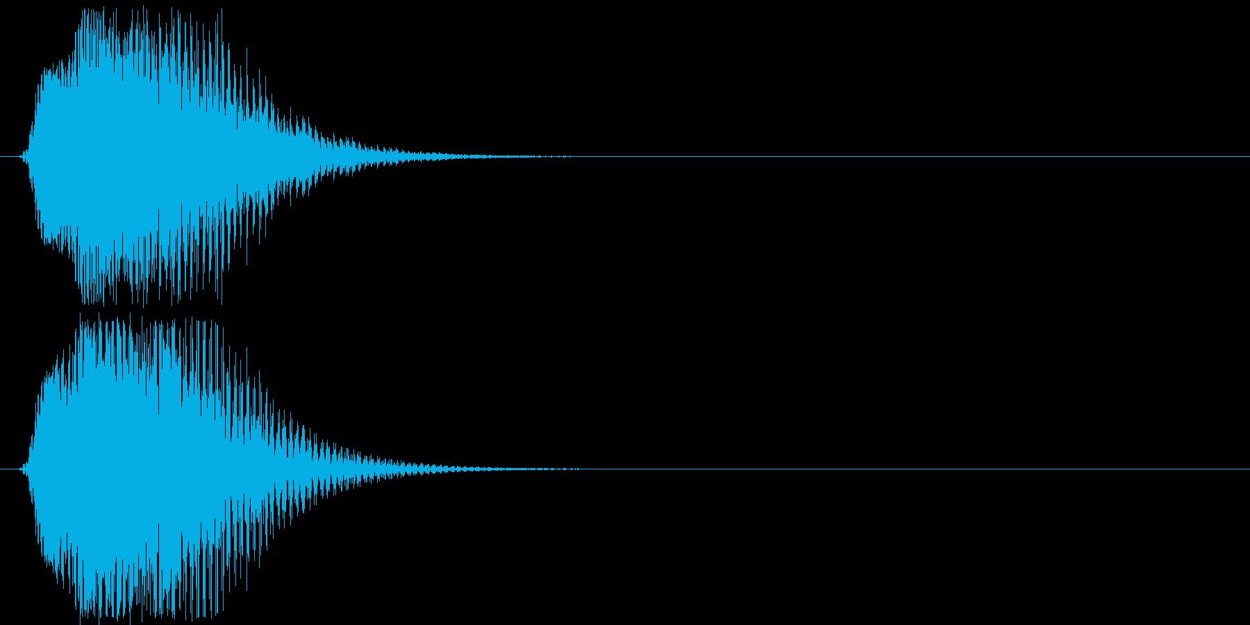 メカやロボの起動音「ブン」4の再生済みの波形