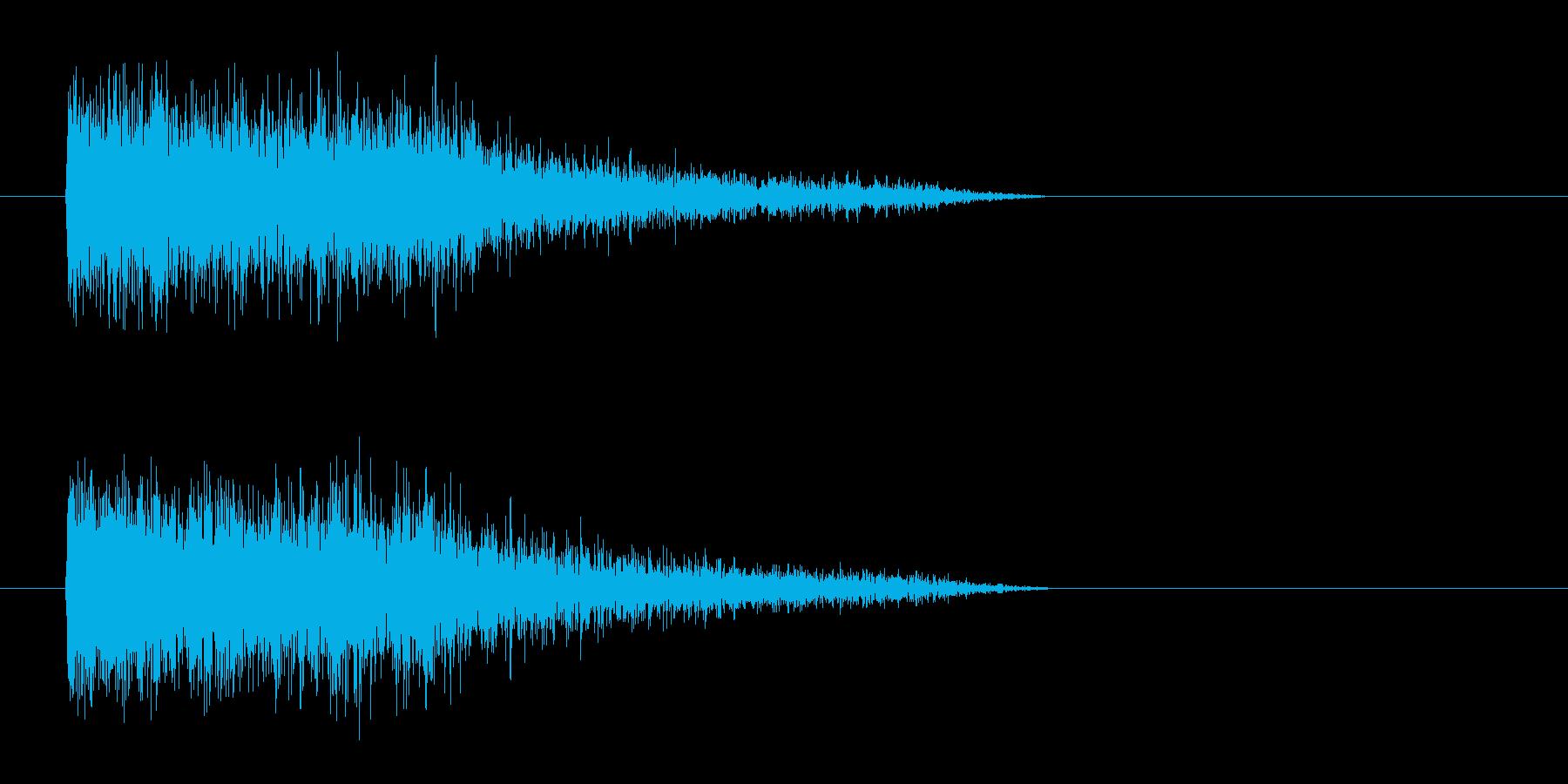 レーザー音-80-3の再生済みの波形