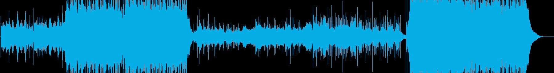 壮大で切ない和風ストリングスBGMの再生済みの波形