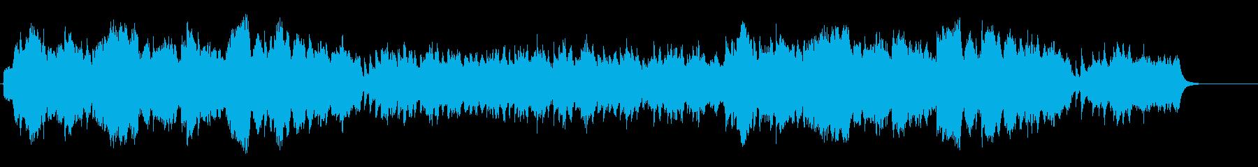 【リズム抜き】和風のおだやかな曲/琴と笛の再生済みの波形