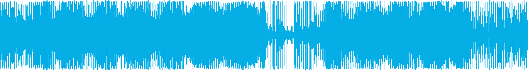 メロディアスで軽い感じのクラブ系BGMの再生済みの波形