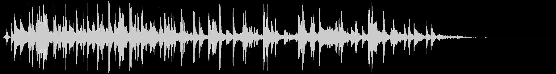 赤ちゃんガラガラ(振る やや長め)の未再生の波形