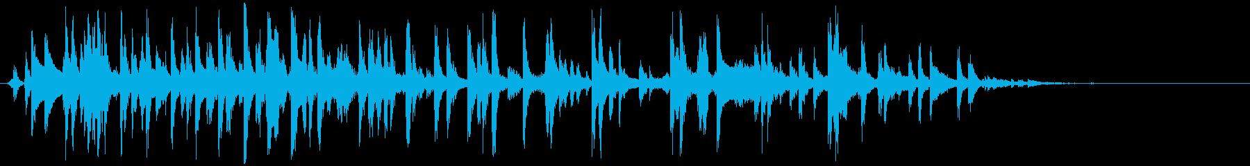 赤ちゃんガラガラ(振る やや長め)の再生済みの波形