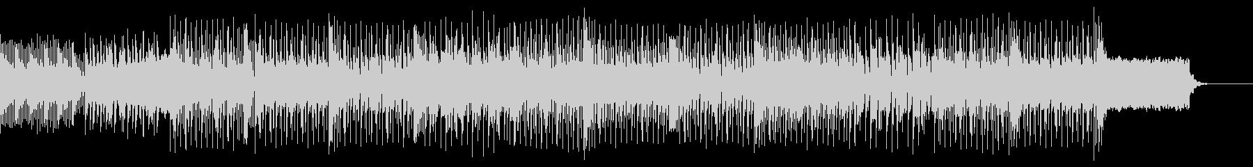 無機質な感じのテクノハウス系BGMの未再生の波形