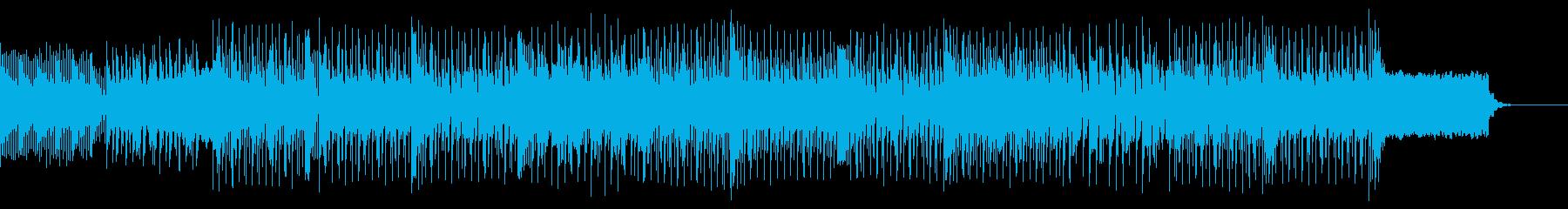無機質な感じのテクノハウス系BGMの再生済みの波形