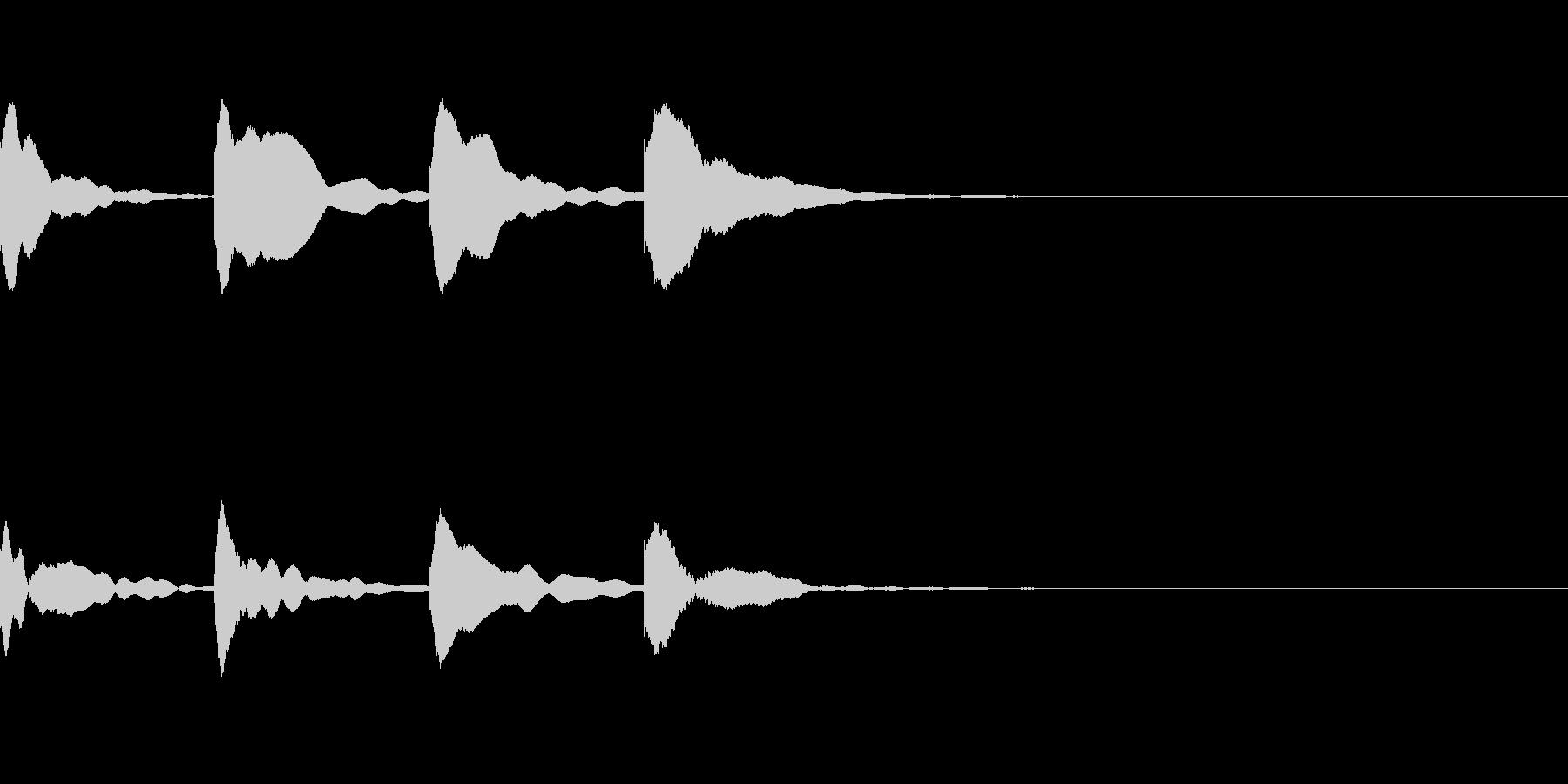 お知らせ・アナウンス音D下降(遅め)03の未再生の波形