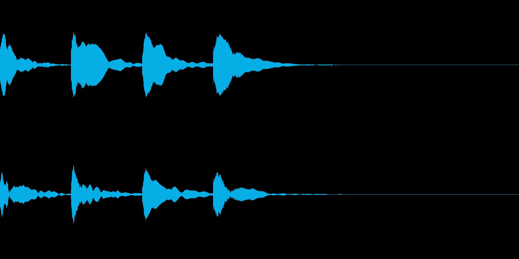 お知らせ・アナウンス音D下降(遅め)03の再生済みの波形