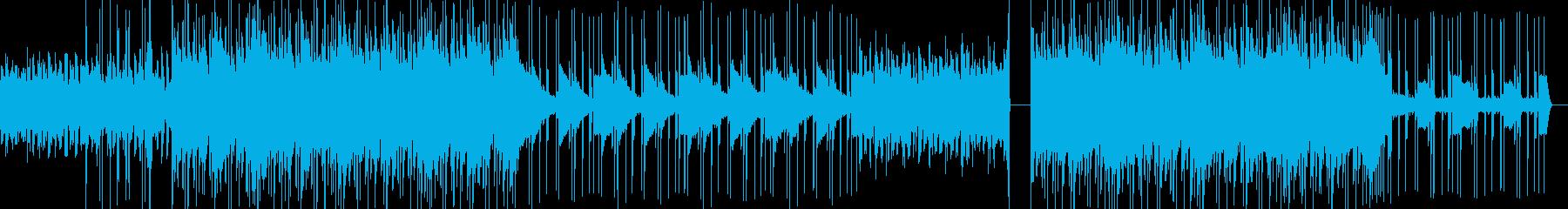 暗いhiphop/Trapの曲の再生済みの波形