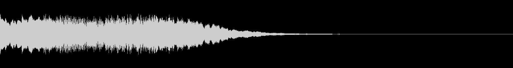 起動音、お知らせ、チャイム、ご案内(↑)の未再生の波形